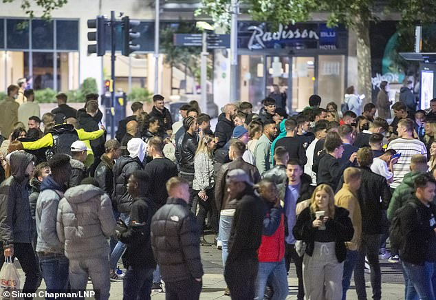BRISTOL: When pub's pulled the shutters down in the city hundreds were seen gathering together un-masked along its main streets on Saturday